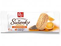 REJ Sušienky celozrnné pomarančové s chia 34 g