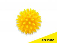 REHABIQ Masážna loptička ježko žltá 6 cm