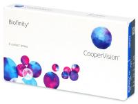 COOPERVISION Biofinity 6 šošoviek, Počet dioptrií: -0,5, Počet ks: 6 ks, Priemer: 14,0, Zakrivenie: 8,6