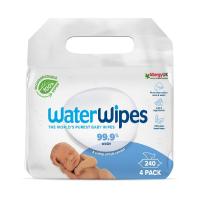 WATERWIPES 100% BIO Odbúrateľné obrúsky 4 x 60 ks