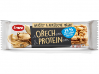 EMCO Tyčinka s orechom a proteínom Arašidy a arašidové maslo 40 g