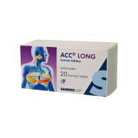 ACC LONG 600 mg 20 šumivých tabliet