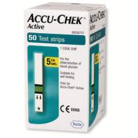 Accu Chek Active glukóze 50 ks testovacie prúžky