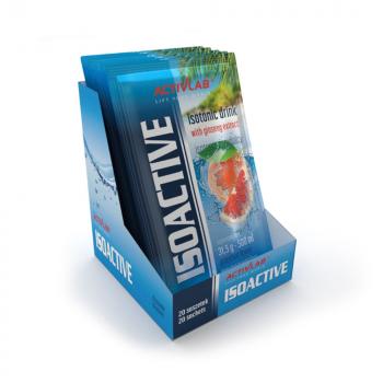 ACTIVLAB Isoactive iontový nápoj s ženšenom príchuť grapefruit 20 vrecúšok