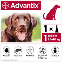 ADVANTIX Spot-on pre psov nad 25 kg (1 pipeta) 1x4 ml