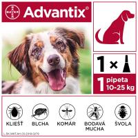 ADVANTIX Spot-on pre psov od 10 do 25 kg (1 pipeta) 1x2,5 ml