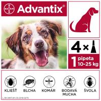 ADVANTIX Spot-on pre psov od 10 do 25 kg (4 pipety) 4x2,5 ml
