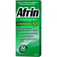 AFRIN 0,5 mg/ml nosový sprej s mentolom 15 ml