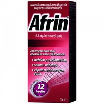 AFRIN 0,5 mg/ml nosový sprej 15 ml