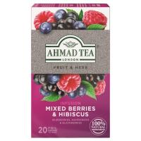 AHMAD TEA Mixed Berries & Hibiscus ovocný čaj 20 sáčkov