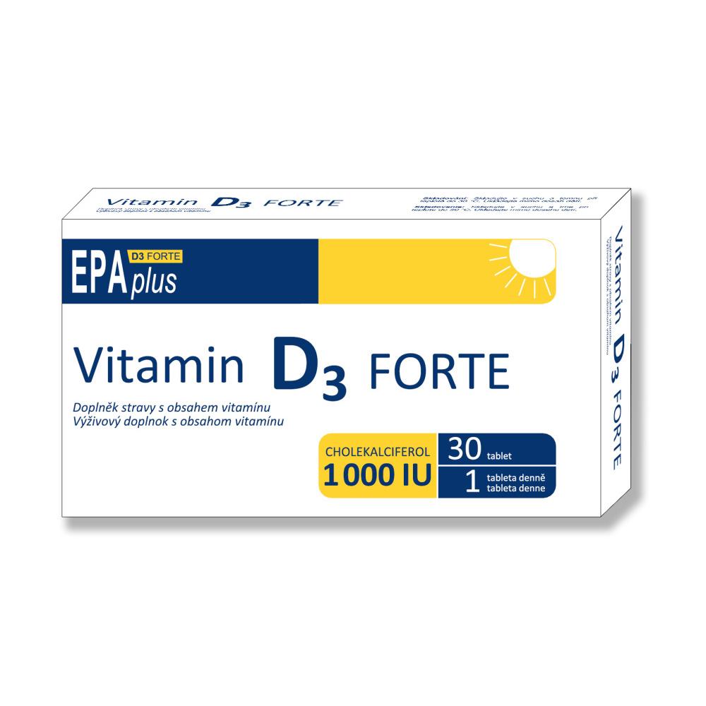 Vitamín D3 forte 1000 IU EPA plus 30 tablet