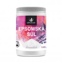 ALLNATURE Epsomská soľ Levanduľa 1000 g