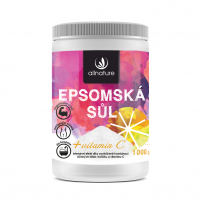 ALLNATURE Epsomská soľ s vitamínom C 1000 g