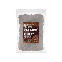 ALLNATURE Kakaové bôby drvené BIO/RAW 200 g