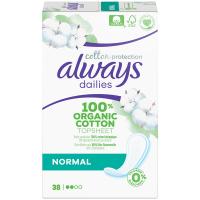 ALWAYS Cotton Intímne vložky Normal 38 ks