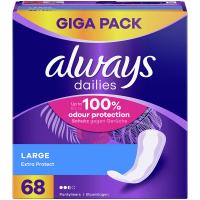 ALWAYS Discreet Inkontinenčné intímne vložky Long 68 ks