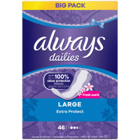 ALWAYS Fresh&Protect Long Deo Intímne vložky 46 ks