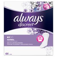 ALWAYS Discreet Inkontinenčné intímne vložky Normal 44 ks