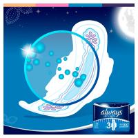 ALWAYS Ultra Night Hygienické vložky s krídelkami 28 ks