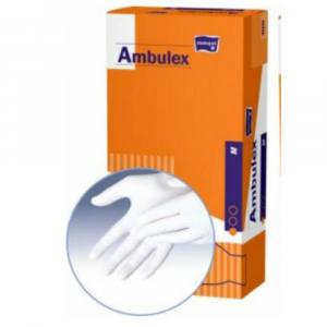 Ambulex rukavice latexové jemne pudrované M 100ks