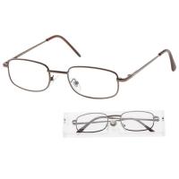 Okuliare čtecí American Way + 2.50 sivé / hnedé v etui