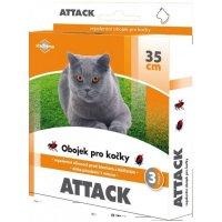 Antiparazitárny obojok Attack 35cm mačka