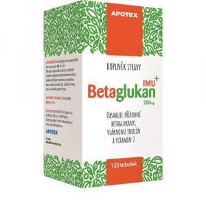 APOTEX Betaglukan IMU 200 mg 120 kapsúl