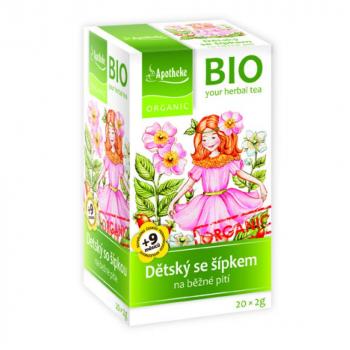 APOTHEKE Detský ovocný čaj so šípkou BIO 20x2g