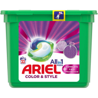ARIEL Allin1 Color & Style + Complete Fiber Protection Kapsuly na pranie 23 PD