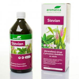 AROMATICA Stevian skorocelový sirup 210 ml