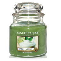YANKEE CANDLE Classic stredná Sviečka Vanilla Lime 411 g