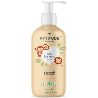 ATTITUDE Baby leaves detské telové mydlo a šampón 2 v 1 s vôňou hruškovej šťavy 473 ml