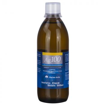 PHARMA ACTIV Koloidné striebro Ag 100 25 ppm 500 ml