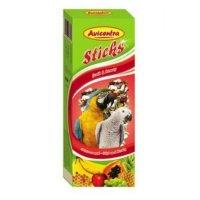 Avicentra tyčinky veľký papagáj - ovocie + med 2ks