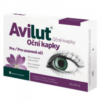 AVILUT Očné kvapky 10x0.5ml