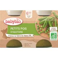 BABYBIO zeleninový príkrm zemiaky s hráškom 2x130 g