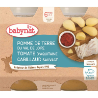 BABYBIO menu zemiaky s treskou 2x200 g