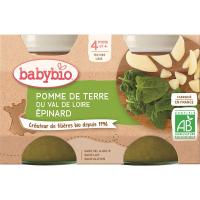 BABYBIO zemiaky špenát 2x130 g