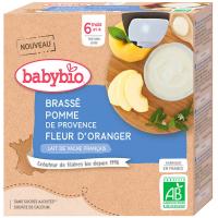 BABYBIO Brassé jablko pomarančový kvet 4x 85 g