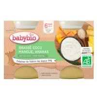 BABYBIO Brassé z kokosového mlieka mango ananás 2x 130 g
