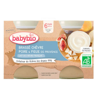 BABYBIO Brassé z kozieho mlieka hruška figa 2x 130 g