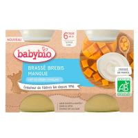 BABYBIO Brassé z ovčieho mlieka mango 2x 130 g