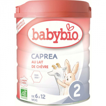 BABYBIO Caprea 2 Pokračovacie plnotučné kozie dojčenské mlieko od 6-12 mesiaca BIO 800 g