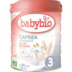 BABYBIO Caprea 3 Pokračovacie plnotučné kozie dojčenské mlieko od 10 mesiaca do 3 rokov BIO 800 g