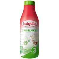 BABYBIO Croissance 3 Tekuté pokračovacie dojčenské mlieko od 10 mesiaca do 3 rokov BIO 1 l