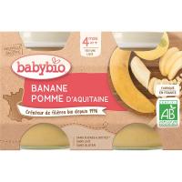 BABYBIO príkrm jablko s banánom 2x130 g