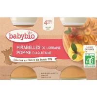 BABYBIO mirabelky jablko 2x130 g