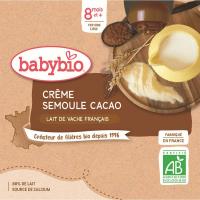 BABYBIO kapsička kakaový krém s krupičkou 4x85 g