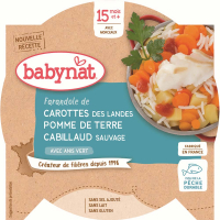BABYBIO menu mrkvu a zemiaky s treskou 260 g