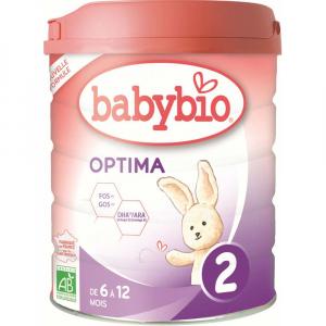 BABYBIO Optima 2 Pokračovacie dojčenské mlieko od 6-12 mesiacov BIO 800 g